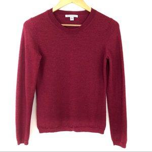 Banana Republic Merino Wool Sweater Burgundy Red